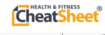 health and fitness cheat sheet